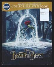DISNEY BEAUTY AND THE BEAST BLU-RAY + DVD + DIGITAL HD BEST BUY STEELBOOK SEALED