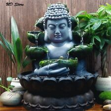 Load buddha Statue Lucky water Fountain Flowing Waterfall Feng-Shui Ornaments