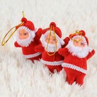 HOT New 6X Christmas Santa Claus Ornaments Festival Xmas Tree Hanging Decoration