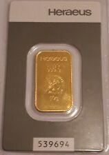 Heraeus 10g Fine Gold Bullion Bar
