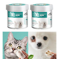 2 Boxes Pet Eye Wipes Dogs Cats Tear Wiping Pads Eye Crust Treatment Cleaner