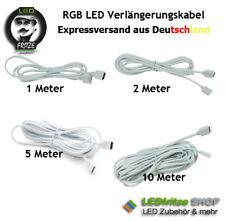 RGB Verlängerung - Kabel 1m 2m 5m 10m 1, 2 ,5,10 Meter 4 adrig  4 adern weiß