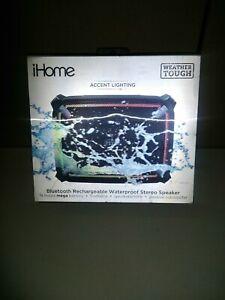 iHome Weather Tough 4 Bluetooth Speaker IBT372BG Waterproof Shockproof Dustproof