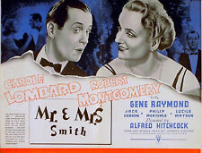 MR AND MRS SMITH 1941 Alfred Hitchcock Carole Lombard TRADE ADVERT