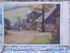 Landschaft Tschechien Dorf Gemälde Kunstwerk Postkarte Ansichtskarte 3021