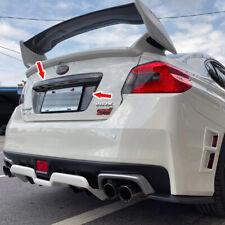 Carbon Fiber Rear License Frame Cover +Trunk Lid Garnish Trim For Subaru WRX STI