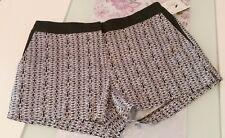 Orsay  Damen  Hose  Shorts  kurze Hose  Hot Pants  schwarz-weiß   Gr. 36  Neu