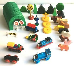 Vintage Brio Thomas and Wooden Scenery Toy Train lot