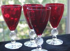 "Morgantown, ""Golf Ball"" Ruby Water Goblets (4) #1"