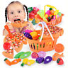 Kids Pretend Role Play Kitchen Fruit Fish Vegetable Food Cutting Set Gift Toy GB