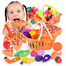 Kids Pretend Role Play Kitchen Fruit Fish Vegetable Food Cutting Set Gift Toy UK
