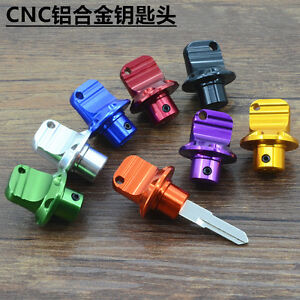 Modified Motorcycle Scooter Moped CNC Aluminum alloy Key Head Ring Chain