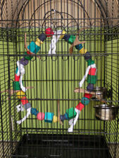 Wooden Bird Toy Parrot Chew Bites Swing Toy Parakeet Cockatiel Budgie Toy T100