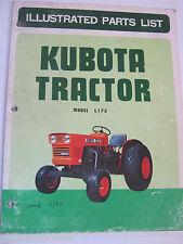 KUBOTA L175 ILLUSTRATED PARTS LIST CATALOG MANUAL ORIGINAL OME