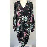 Badgley Mischka Floral Blouson Sleeve Dress 12