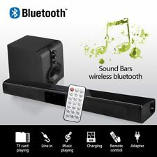 Bluetooth Wireless TV Soundbar 4 Lautsprecher 3D Sound Bar Heimkino Speaker DE