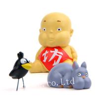 3pcs/Set Studio Ghibli's Anime Spirited Away Boh MouseResin Figure Toys Doll