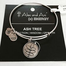 """ALEX AND ANI """"ASH TREE"""" CHARM BRACELET IN RUSSIAN SILVER! NWT! RETIRED! SOLD OUT"""