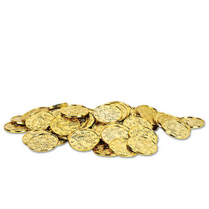 Plastic Gold Coins - 100 Count