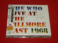 JAPAN ONLY 2 SHM CD THE WHO Live At The Fillmore East 1968 DIGIPAK