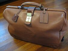 GHURKA LEATHER WHEELED CARRY-ON LUGGAGE | LOCKING CLASP | RARE | GREAT CONDITION
