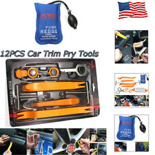 13pcs Car Dash Panel Removal Audio Trim Pry Tools Set +Inflatable Pump Wedge US