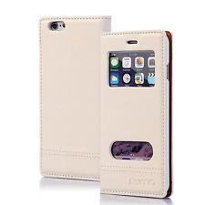 Numia Handy Tasche Schutz hülle Flip Cover Case Klapp Etui Apple iPhone 6 WEISS