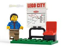 LEGO® City Eisenbahn Haltestelle Dorf-Bahnhof mit Fahrplan und Figur 60051