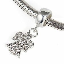 Angel Dangel Genuino 925 plata pulsera con dijes Europea Bead Fits