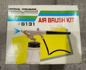 Central Pneumatic #6131 Air Brush Kit New In Box