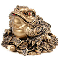1pc Chinese Fortune Frog Feng Shui Lucky Money Toad Home Office Decoration TSXI