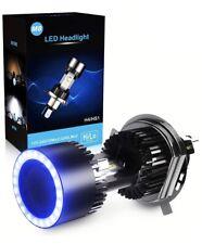 Ampoule H4 LED Yeux D'ange Moto, 6400LM, DC 12V, Xenon Blanc 6000K, 1 Ampoule