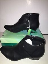 """SOLE (SENSE)ABILITY Womens """"LINA""""Ankle Boots BLACK Size 11M NEW Box Winter Fall"""