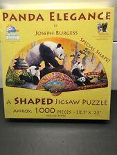 1000 piece SunsOut shaped puzzles. Panda Elegance (fan-shaped)