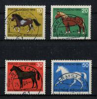 Bund 578 - 581 LUXUS gestempelt Vollstempel Darmstadt BRD Satz Pferde 1969 used