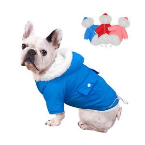 Very Small Dog Coats for Winter Waterproof Fleece Jacket Hoodie Jack Russell Pug