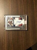 Damien Harris  2019 Panini One Sweet! 4 Color Patch On Card Auto. RC # 59/149