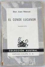 EL CONDE LUCANOR - DON JUAN MANUEL - COLECCIÓN AUSTRAL - ESPASA-CALPE 1977 - VER