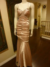 BEAUTIFUL PINK MERMAID STYLE PROM DRESS RECEPTION PAGEANT BRIDESMAID GOWN