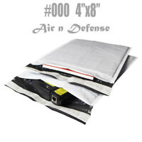 1000 #000 4x8 Poly Bubble Padded Envelopes Mailers Shipping Bags AirnDefense