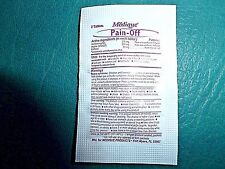 Pain-Off  250 mg. Acetaminophen 250 mg. Aspirin  65 mg. Caffeine 5 Sealed 2-Paks