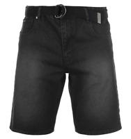 Pierre Cardin Mens Denim Web Belt Black Shorts Cotton UK size 4XL