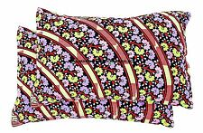 2 PC Indian Cushion Cover Floral of Life Cotton Pillow Cover Bed Decor Handmade