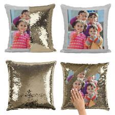 Personalised Sequin Cushion Magic Mermiad Photo Reveal Pillow Case Insert Custom