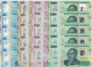 Angola 200, 500, 1000, 2000 Kwanzas, Polymer, new issue 2020; 5 set; UNC