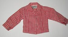 Vintage Tammy Sorority Sweetheart Red Checkered Blouse NM to Mint