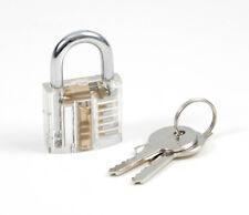 Transparent Übungsschloss Bügelschloss Lockpicking 2 Schlüssel Akryl [#1445]
