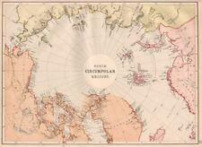 "ARCTIC. ""North Circumpolar Regions"". Incomplete coastlines. Exploration 1882 map"