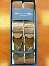ALBERT THURSTON BOXCLOTH  NEW COLOUR BROWN BRACES ONE SIZE BROWN LEATHER ENDS