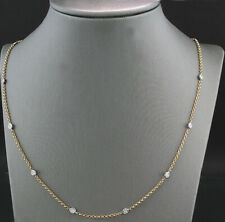 Brillant Collier 10 Diamanten 750-Gold Einzelfassung Wert 2.940 Euro Neu